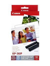 "7737A001 - Canon KP-36IP Ink/Paper Set 4 X 6"", Postcard Size 36 Prints"