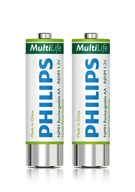 12201J - Philips LFH153 Rechargeable Batteries, 2 x AA size