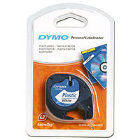 S0721610 - Dymo LetraTAG Plastic Tape Pearl White - (legacy code 91201)