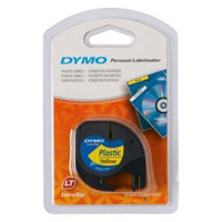 S0721620 - Dymo LetraTAG Plastic Tape Yellow - (legacy code 91202)