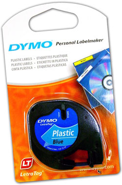 S0721650 - Dymo LetraTAG Plastic Tape Blue - (legacy code 91205)
