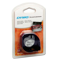 S0721730 - Dymo LetraTAG Metallic Tape Silver - (legacy code 91208)