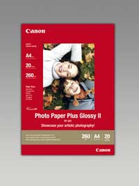 PP201A4 - Canon PP-201 A4 Photo Paper Plus Glossy II - Pack of 20 Sheets, 260gm2