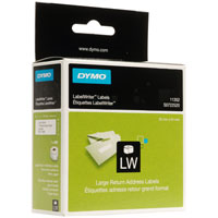 6x11352 - 6 Boxes Dymo 11352 Label Writer Labels, Return Address - Permanent Adhesive