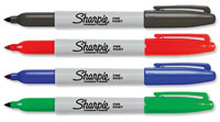 S0810970 - Sharpie Fine Assorted Permanent Markers. Pack of 4