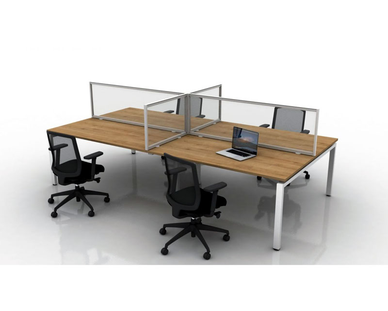 1915490 - Nobo Premium Plus Desk Divider, 1400 X 1000mm, Keeping your work force safe.