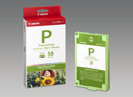 "1247B001 - Canon Easy Photo Pack E-P50 Ink/Paper Set, 4 X 6"" (100 X 148mm) Postcard Size 50 Prints - Discontinu"