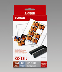 KC18IL - Canon KC-18IL Credit Card Ink/Label Set - Discontinued by Canon