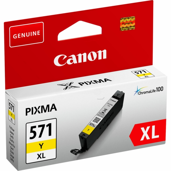 0334C001 - Canon CLI-571XL Y High Yield Yellow Ink Tank