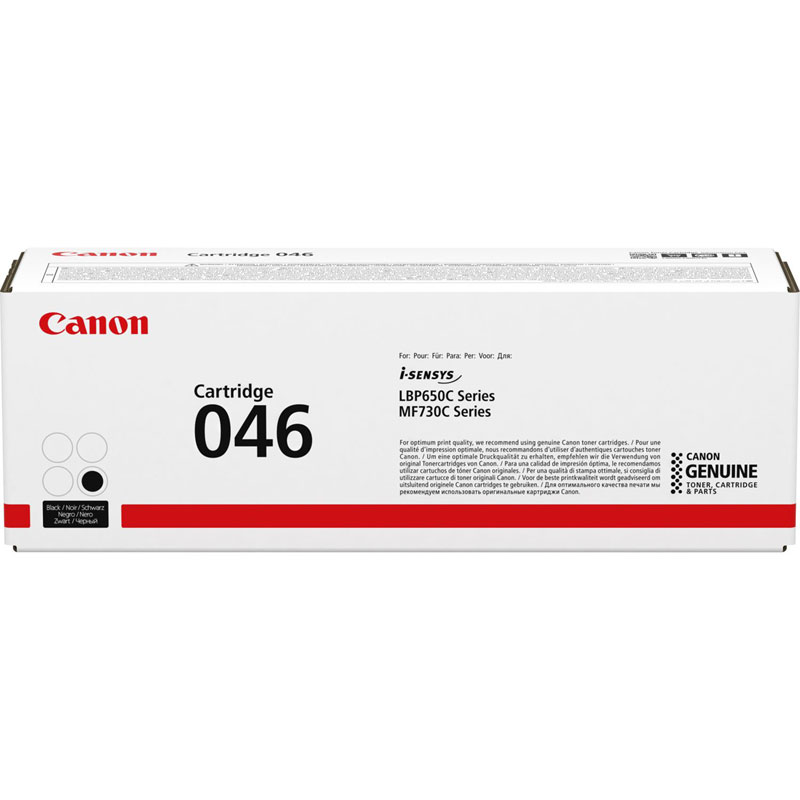 1250C002 - Canon 046 Black Toner Cartridge - 2,200 Pages