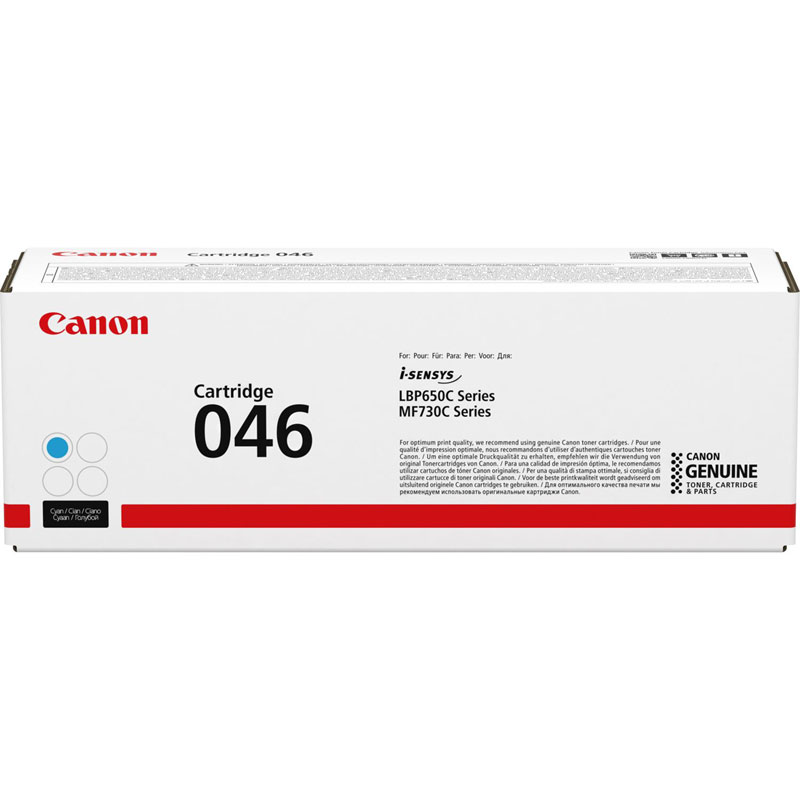 1249C002 - Canon 046 Cyan Toner Cartridge - 2,300 Pages