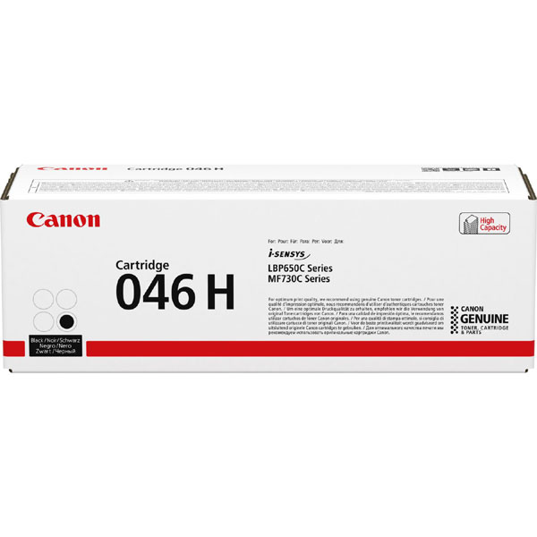 1254C002 - Canon 046H High Yield Black Toner Cartridge - 6,300 Pages