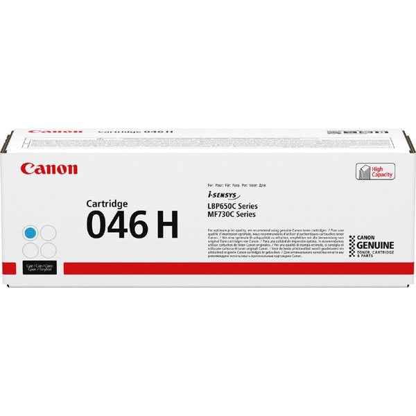 1253C002 - Canon 046H High Yield Cyan Toner Cartridge - 5,000 Pages
