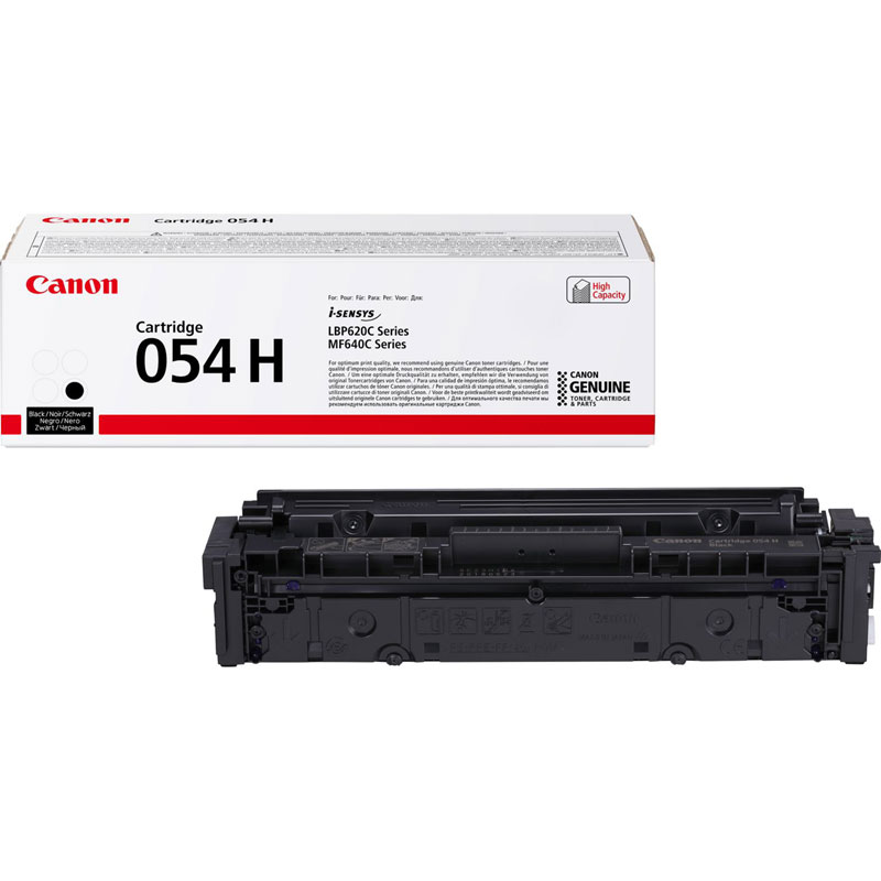 3028C002 - Canon 054H High Yield Black Toner Cartridge - 3,100 Pages