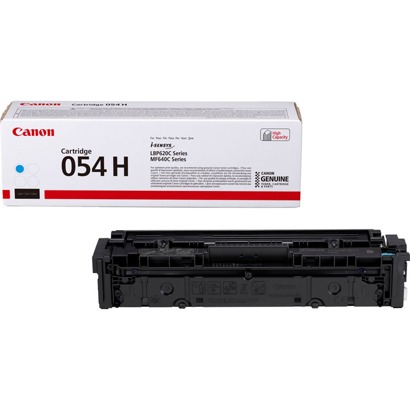 3027C002 - Canon 054H High Yield Cyan Toner Cartridge - 2,300 Pages