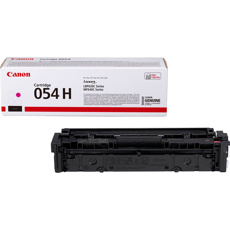 3026C002 - Canon 054H High Yield Magenta Toner Cartridge - 2,300 Pages