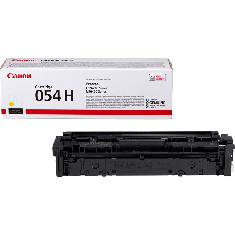 3025C002 - Canon 054H High Yield Yellow Toner Cartridge - 2,300 Pages