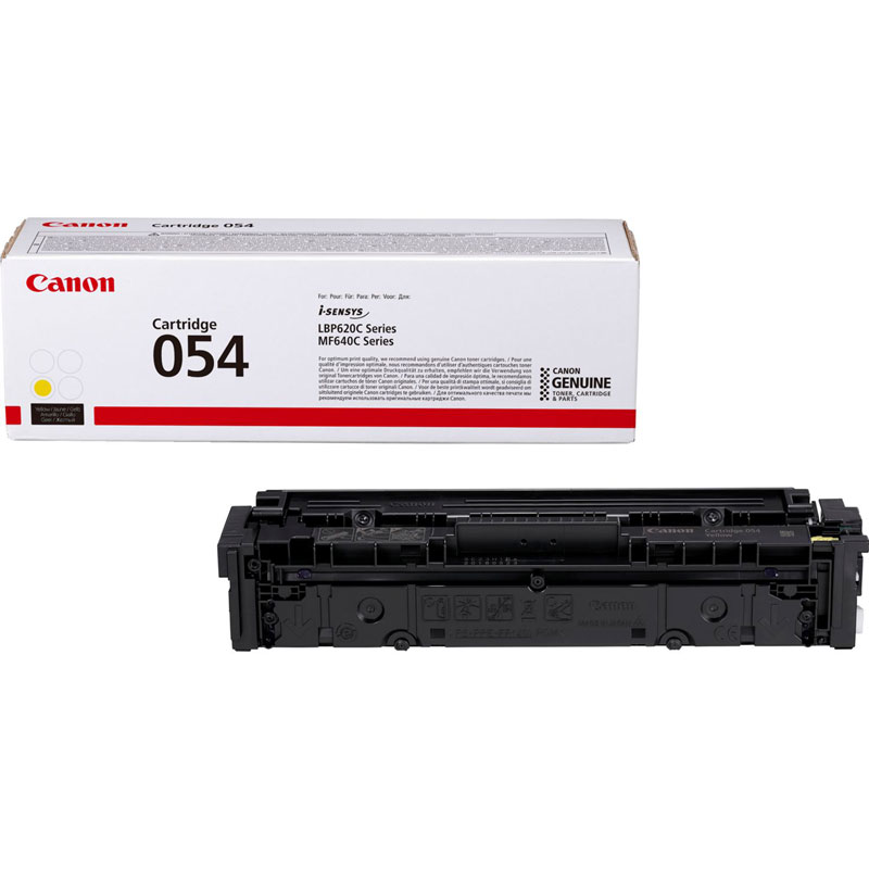 3021C002 - Canon 054 Yellow Toner Cartridge - 1,200 Pages