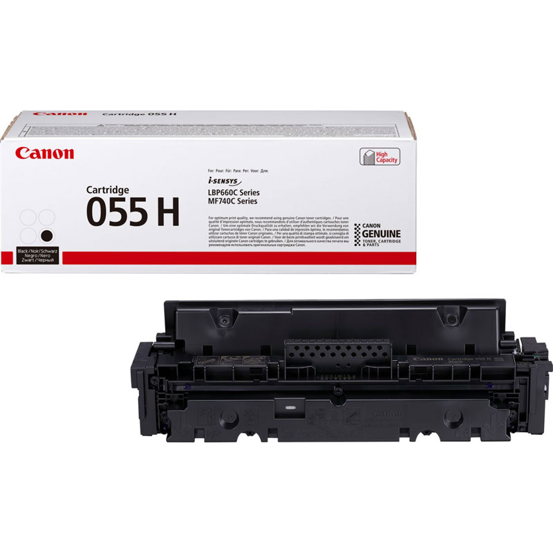 3020C002 - Canon 055H High Yield Black Toner Cartridge - 7,600 Pages