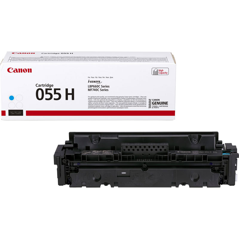 3019C002 - Canon 055H High Yield Cyan Toner Cartridge - 5,900 Pages
