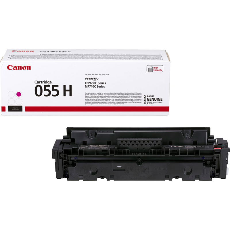 3018C002 - Canon 055H High Yield Magenta Toner Cartridge - 5,900 Pages