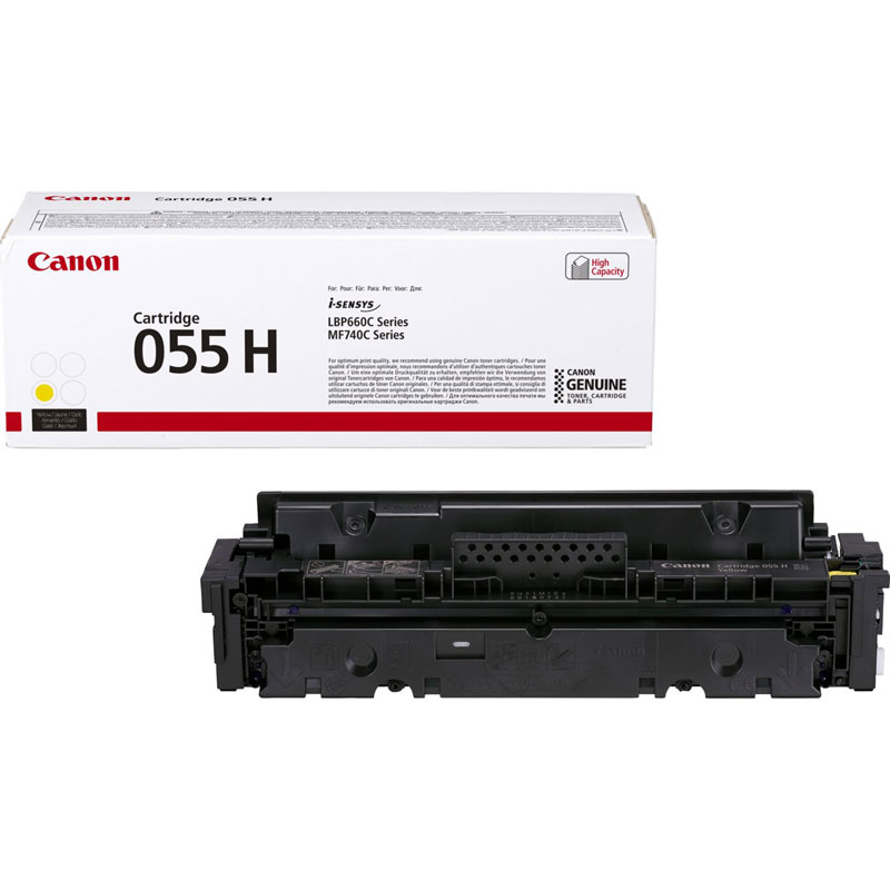 3017C002 - Canon 055H High Yield Yellow Toner Cartridge - 5,900 Pages