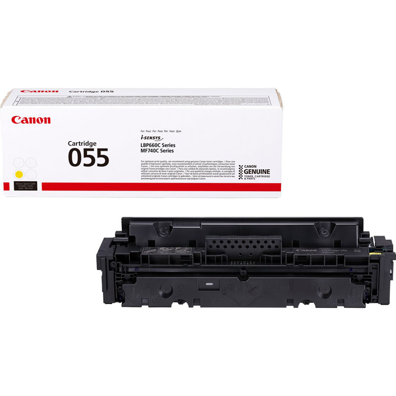 3013C002 - Canon 055 Yellow Toner Cartridge - 2,100 Pages