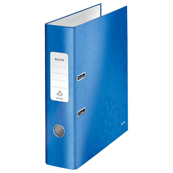 1005-00-36 - Leitz WOW Blue wide spine lever arch file - Box of 10 - A4 Format, Free DAB radio offer