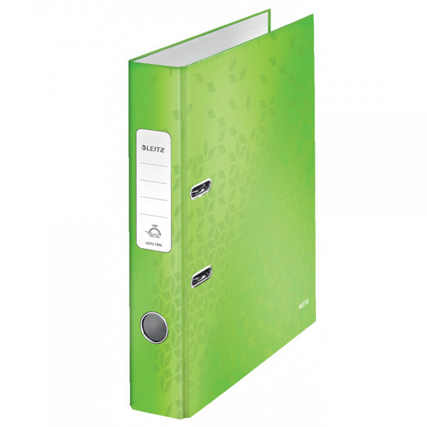 1006-00-54 - Leitz WOW Green narrow spine lever arch file - Box of 10 - A4 Format