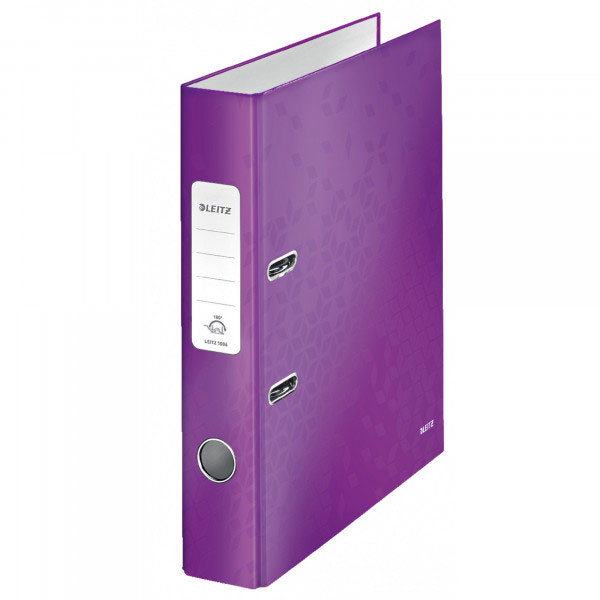 1006-00-62 - Leitz WOW Purple narrow spine lever arch file - Box of 10 - A4 Format