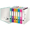 1006-10-99 - Leitz WOW Assorted Colour narrow spine lever arch file - Box of 10 - A4 Format