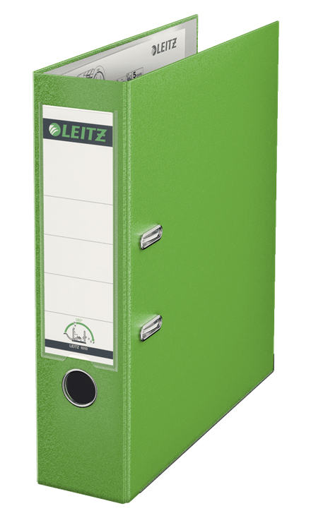 10101250 - Leitz 180° Plastic A4 Lever Arch File - Light Green