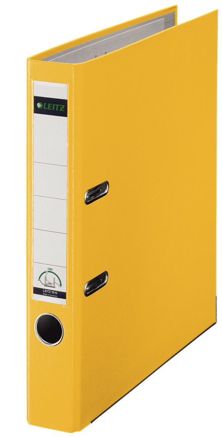10151215 - Leitz 180° Plastic A4 Lever Arch File - Yellow