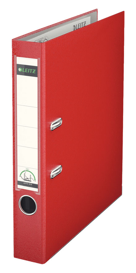 10151225 - Leitz 180° Plastic A4 Lever Arch File - Red