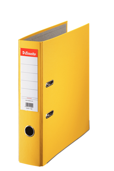 10782 - Esselte Essentials Lever Arch File - Box of 20, Yellow - A4 Format, 75mm Spine Width