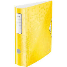 1107-00-16 - Leitz 180° Active WOW A4 50mm Polyfoam Lever Arch File - Yellow (Pack of 5)