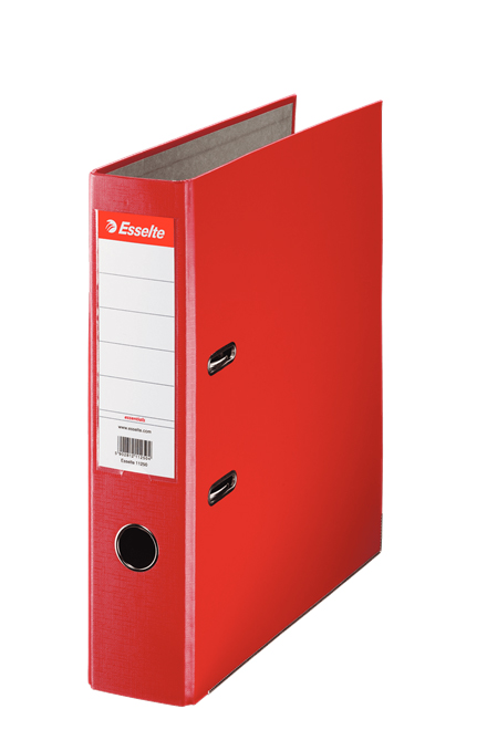 11253 - Esselte Essentials Lever Arch File - Box of 20, Red - A4 Format, 75mm Spine Width