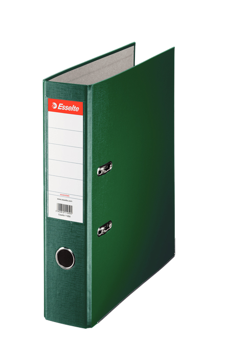 11256 - Esselte Essentials Lever Arch File - Box of 20, Green - A4 Format, 75mm Spine Width