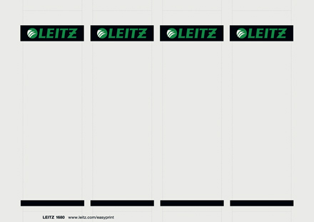 16800085 - Leitz PC printable Spine Labels for plastic lever arch files
