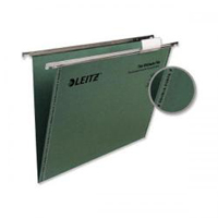 1744-00-55 - Leitz Green Ultimate Clenched Bar Suspension File, Box of 50 - V Base, 150 Sheet Capacity