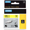 S0718270 - Dymo RHINO Black Print on Yellow Heat Shrink Tube 6mm x 1.5m - (legacy code-18052)
