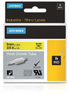 S0718290 - Dymo RHINO Black Print on Yellow Heat Shrink Tube 9mm x 1.5m - (legacy code-18054)