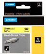 S0718340 - Dymo RHINO Black Print on Yellow Heat Shrink Tube 19mm x 1.5m - (legacy code-18058)