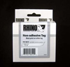 S0718350 - Dymo RHINO Black Print on White Tag Tape non-adhesive 6mm x 5.5m - (legacy code-18111)