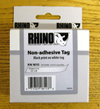 S0718380 - Dymo RHINO Black Print on White Tag Tape non-adhesive 12mm x 5.5m - (legacy code-18113)