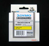 S0718420 - Dymo RHINO Black Print on Yellow Tag Tape non-adhesive 12mm x 5.5m - (legacy code-18117)