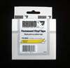 S0718440 - Dymo RHINO Black Print on Yellow Coloured Vinyl Tape 9mm x 5.5m *NO LONGER AVAILABLE*