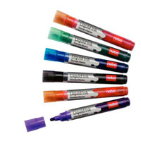 1901072 - Nobo Liquid Ink Drymarkers, Pack of 12 assorted colours.