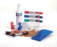 1901430 - Nobo Whiteboard User Kit with Markers, Eraser, Magnets & Cleaners