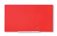 1905184 - Nobo Diamond Glass Board, Magnetic - Red 993x559mm - 45""